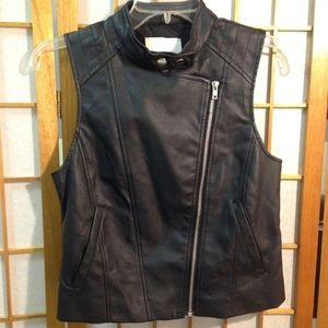 Jack Faux Leather Vest